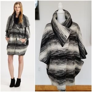 CUT25 by YIGAL AZROUEL Gray Poncho Coat Size 8
